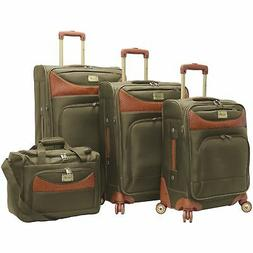 New Caribbean Joe Castaway 4-Piece Spinner Luggage Set Olive