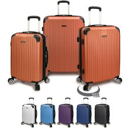 Charvi 3pc Hardside Expandable 8-Wheel Spinner Luggage Set w