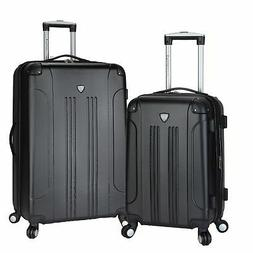 Travelers Club Chicago 2-piece Expandable Hardside Spinner L