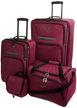 Travelers Choice U.S. Traveler Westport 4-Piece Luggage Set