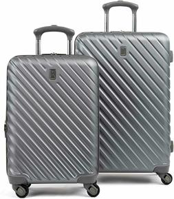 citadel deluxe 2 piece hardside spinner luggage