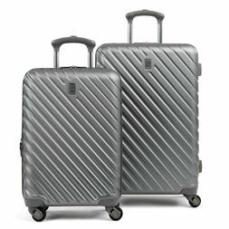 """Citadel Deluxe 20"""" and 24"""" Hardside Spinner Luggage Set by T"""