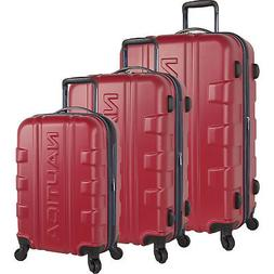 clipper83 red navy 3 piece hardside spinner