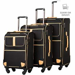 Coolife Luggage 3 Piece Set Suitcase with TSA lock pinner so