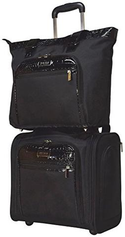 croc luggage set wheeled under