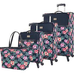 Tommy Bahama Curacao 4 Piece Expandable Spinner Luggage Set