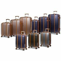 deluxe 3 piece hardside spinner luggage set