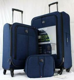 DELSEY EMBARQUE 2.0 2 PIECE LUGGAGE SET BLUE MISSING BONUS T