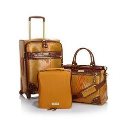 Samantha Brown Embossed Ombre Spinner 3 piece Luggage Set Ye