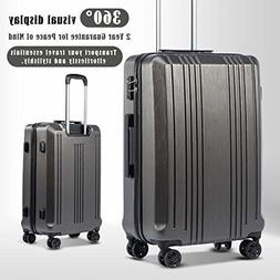 Expandable Suitcase 3 Piece Set with TSA Lock Spinner - Cool