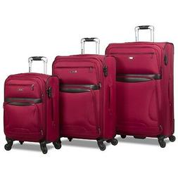 Rolite Explorer 3-Piece Expandable Spinner Luggage Set - Bur