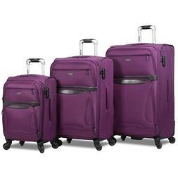 Rolite Explorer 3-Piece Expandable Spinner Luggage Set - Pur