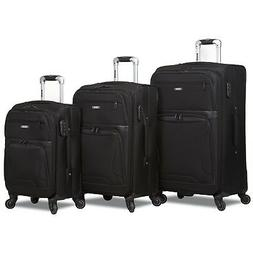 Rolite Explorer 3-Piece Expandable Spinner Luggage Set - Bla