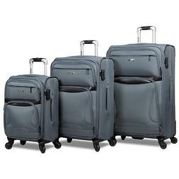 Rolite Explorer 3-Piece Expandable Spinner Luggage Set - Gre