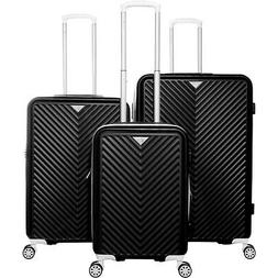 Gabbiano Explorer 3 Piece Hardside Spinner Luggage Set