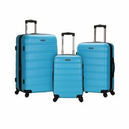 Rockland F160-TURQUOISE MELBOURNE 3 PC ABS LUGGAGE SET - TUR