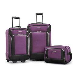 American Tourister Fieldbrook XLT 3pc Set , Purple/Black