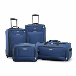 American Tourister Fieldbrook XLT 4pc Set , Navy