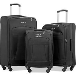 Merax Flieks 3 Piece Luggage Set Expandable Spinner Suitcase