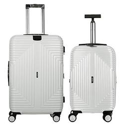 Fochier 2 Piece Luggage Sets Hardside Expandable Spinner Sui