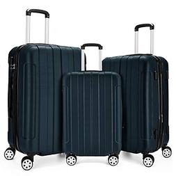 Fochier 3 Piece Expandable Spinner Luggage Set Lightweight S
