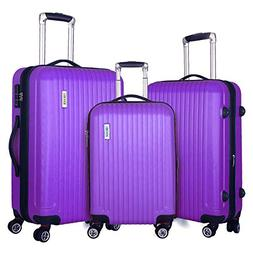 Fochier 3 piece Luggage Sets Expandable Lightweight Spinner