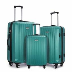 Fochier 3 Piece Luggage Sets Hard shell Lightweight Suitcase