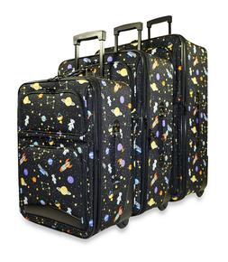Galaxy Space Expandable 3 pc Piece Luggage Set for Travel So
