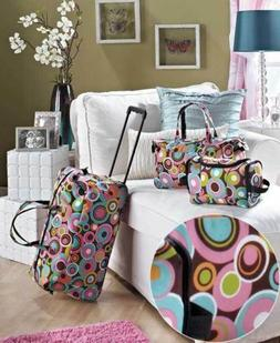 Girls Luggage Set Kid Travel Rolling Duffel Bag Tote Toiletr