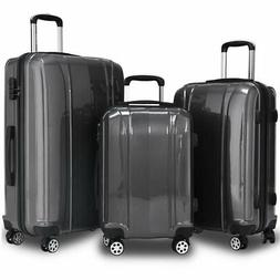 "GLOBALWAY 3 Pcs 20"" 24"" 28"" Luggage Travel Set ABS+PC Trolle"
