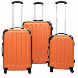 GLOBALWAY 3 Pcs Luggage Travel Set Bag ABS Trolley Suitcase