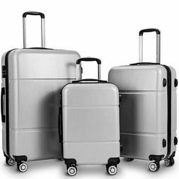 """GLOBALWAY 3Pc Luggage Set 20"""" 24"""" 28"""" Trolley Suitcase ABS+P"""
