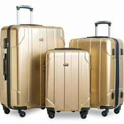 Hard Luggage Set Best Carryon Gold Spinner Carry On With Whe