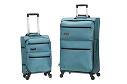 Rockland Gravity 2 Pc Light Weight Luggage Set, Turquoise
