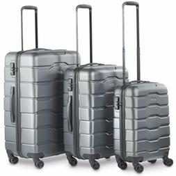 VonHaus Gray 3-Piece Luggage Set TSA Lock Lightweight Hardsi