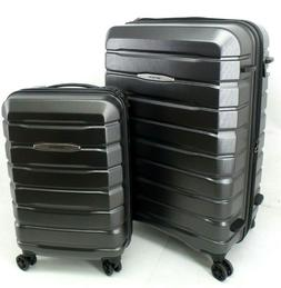 gray tech two spinner roller luggage suitcase