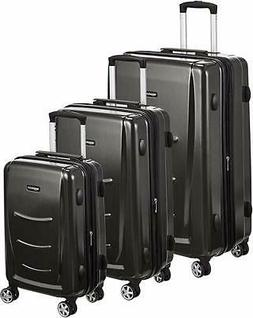 AmazonBasics Hardshell Spinner Luggage - 3-Piece Set , Slate