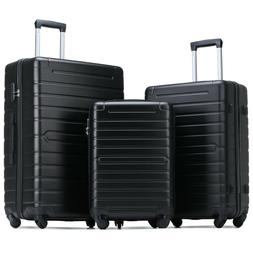 Merax Hardside 3 Piece Luggage Set Lightweight Rolling Spinn
