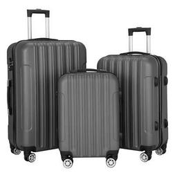 Hardside 3 Piece Nested Spinner Suitcase Travel Luggage Set