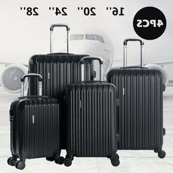4 Luggage Set ABS Spinner Travel Suitcase Waterproof Carry O