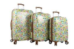 Lily Bloom Hardside Luggage Sets 3 Piece Design Pattern Spin
