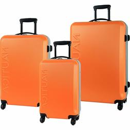 Hardside Luggage Set Spinner 3 Piece Nautica Travel Womens M