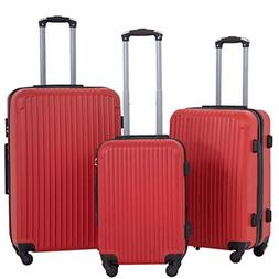 3-pc Hardside Luggage Spinners Set w/ Built-in Combination L