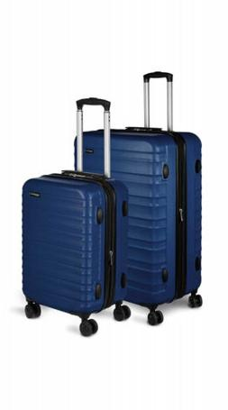 AmazonBasics Hardside Spinner Luggage - 2 Piece Set , Navy B
