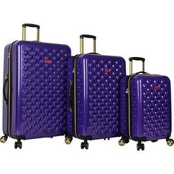 BETSEY JOHNSON Heart To Heart 3 Piece Expandable Luggage Set