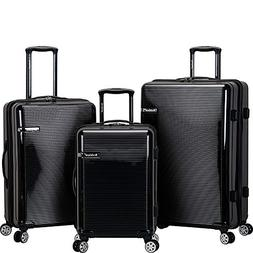 Rockland Horizon 3 Piece Polycarbonate/abs Upright Set, Blac