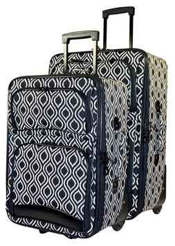 Ikat Print Expandable 3 pc Piece Luggage Set for Travel Soft