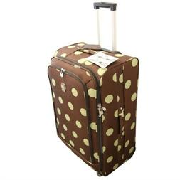 Jenni Chan Dots 360 Quattro Upright Luggage Brown With Sage