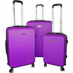 Karriage-Mate 3-piece Purple Hardside Spinner Luggage Set -