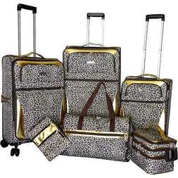 Karriage-Mate Gold Leopard 6-piece Expandable Spinner Black